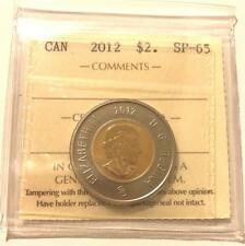 $2 COIN - CANADA 2012 $2 TOONIE GRADED ICCS SP-65 **NO TAX**