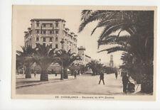 Casablanca Boulevard De 4eme Zouaves Morocco Vintage Postcard US017