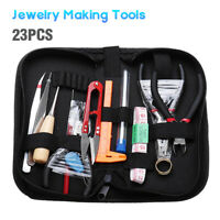 23Pcs Jewelry Making Tools Repair Kit Jewelry Pliers Beading Wire Set DIY