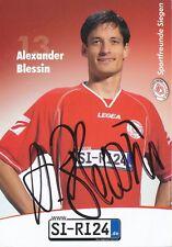Alexander Blessin  Sportfreunde Siegen  Fußball Autogrammkarte signiert 352359
