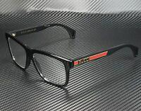 GUCCI GG0464O 006 Rectangular Square Black Demo Lens 56 mm Men's Eyeglasses