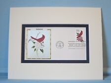 State Bird & Flower of Indiana - Cardinal & Peony & First Day Cover