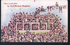 CYNICUS POSTCARD THE LAST CAR TO THE WICKED REGIONS 1907 STRATFORD ON AVON