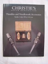 Christies Auction Catalogue - 14th July 1998 - Thimbles & Needlework Tools