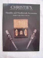 CHRISTIE'S AUCTION CATALOGUE - 14th JULY 1998 - THIMBLES & NEEDLEWORK TOOLS