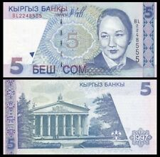 KYRGYZSTAN 5 Som, 1997, P-13a, UNC World Currency