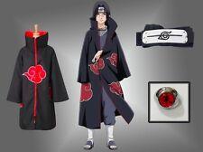 Ninja Uchiha Itachi Anime Cosplay Costume Akatsuki Unisex Cloak NARUTO