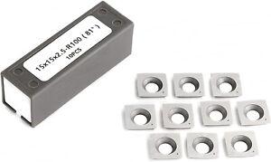 """15mm 4"""" RADIUS CARBIDE INSERTS BYRD SHELIX CUTTERHEADS FOR DEWALT DW735 DW735X"""