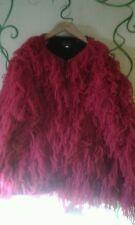 gorgeous pink shaggy hippy, festival jacket, coat by equatorial size L,