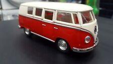Vw Volkswagen Classical Bus 1962 red white kinsmart model 1/32 scale diecast Car