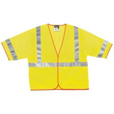 Mcr Class Iii Hi-Vis Safety Vest, Luminator, Cl3Ml, 3M Scotchlite, 4Xl, W Pocket