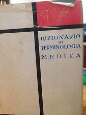 1959 DIZIONARIO DI TERMINOLOGIA MEDICA FRANCESE ITALIANO / ITALIANO FRANCESE