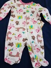 Newborn baby girl footie Garanimals darling jungle print