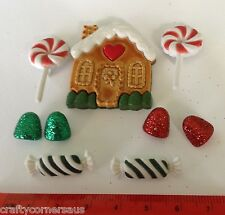 Candy Cottage Lollies Novelty Christmas Buttons Dress It Up Jesse James 2461