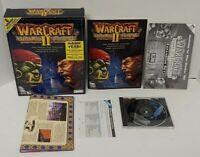 WARCRAFT II TIDES OF DARKNESS VINTAGE PC VIDEO GAME BIG BOX (1995) Mint Disc