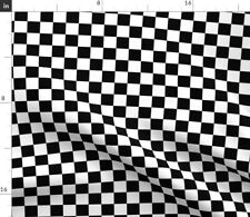 Black And White Checkered Checkerboard Fabric Printed by Spoonflower BTY
