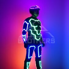 Tron LED costume and LED Helmet for Flyboard show. Model Defender. Extended Set