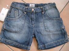 (H390) Armani Girls Hose used look Jeans Bermuda Strass Knopf div Taschen gr.128