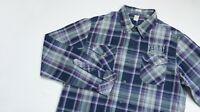 Replay Casual shirt men Long Sleeve top size M Medium Regular purple LIGHTWEIGHT