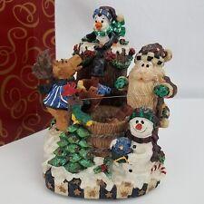 San Francisco Music Box Musical Moose Fountain Water 8 Christmas Tunes