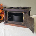 Antique 1800 s Carriage   Buggy Pierced Tin Foot Warmer   19th Century