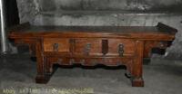 """25 """"Bureau de table à tiroir en bois sculpté dynastie Huanghuali, Chine"""