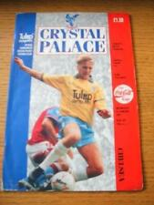 06/01/1993 Crystal Palace v Chelsea [Football League Cup] (Creased, Stained, Tea