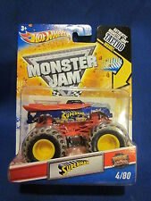 Hot Wheels Monster Jam Superman with Tatto Inside Sealed