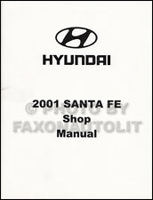 2001 Hyundai Santa Fe Shop Manual OEM Repair Service Book GL GLS LX Factory