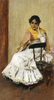 Oil Chase - A Spanish Girl aka Portrait of Mrs. Chase in Spanish Dress canvas