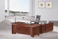 Sandhurst GRA-DSK-70202 Luxury Executive Desk Set- Main Desk & Return & Pedestal