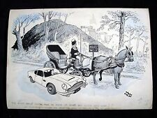 Aston Martin DB London Evening Standard JAK Original Art New York Central Park
