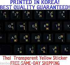 Thai Transparent Keyboard Sticker orange letters No Reflection, Printed In Korea