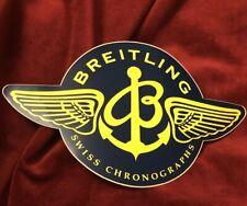 Rare Breitling 1884 Sticker Adesivo Swiss Chronograph Vintage Watch