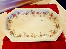 """Rosenthal Continental Floral Maria Serving Platter Selb Germany US Zone 15 1/4"""""""