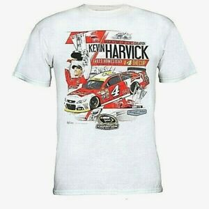Kevin Harvick #4 White Championship T-shirt, X-Large