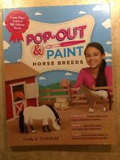 NEW Pop-Out & Paint Horse Breeds Create Paper Models by Cindy Littlefield Craft