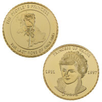 WR 24K Gold Princess Diana Commemorative Coin The Lasted Rose of England
