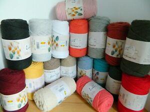 100% Recycled Baumwolle 45 meter Makramee Garn 4-5 mm 19 Verschiedene Farben