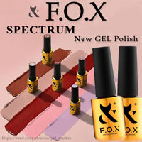 F.O.X ( Fox ) - SPECTRUM Gel Nail polish COLOR Coat FRENCH RED SHINE NUDE - 7ml