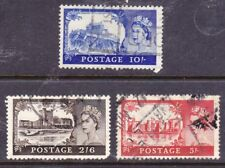 Great Britain 1963 Castles 3 Stamps as Scan F116