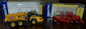Komatsu GD655 Motor Grader Forest Red & Komatsu HM400-5 Dump Truck - First Gear