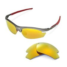 Walleva Polarized 24K-Gold Replacement Lenses For Rudy Project Rydon Sunglasses