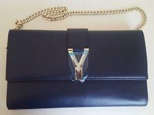 New designer purple leather shoulder purse bag authentic leather!