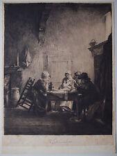 Ferdinand Schmutzer ( 1870-1928) Bettlerherberge in Edam.