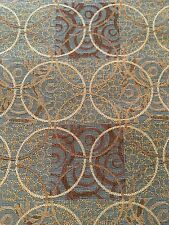 Upholstery Fabric Crypton New Dimension Isle Blue Brown Circles Mayer 8.7 Yards