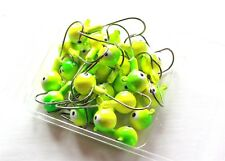 25 NEW 3/8 oz Round Jigheads Jigs Barb Two-tone Seasky Fishing Lures 4 Colors