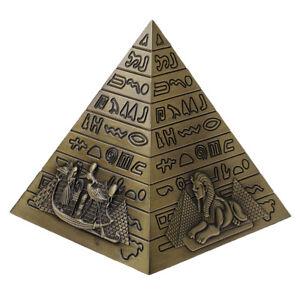 Egyptian Landmark Metal Pyramids Statue Home Decor Gift Table Shelf Ornament