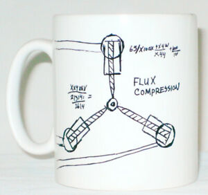 Flux Capacitor Drawing Mug Can Personalise ANY NAME Back To The Future Gift BTTF