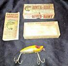 Vintage Genuine Heddon River-Runt Spook Lure - in original box w/catalog